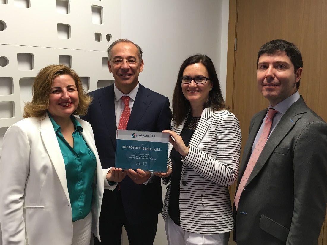 Reconocimiento excelencia preventiva a Microsoft Iberia