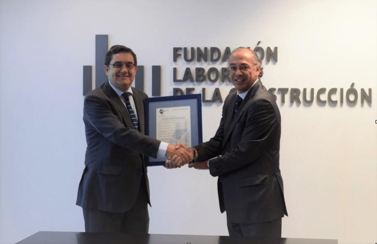 Certificado de Homologación Formación Sector Telco a la Fundación Laboral de la Construcción