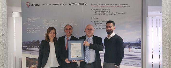 Certificación ISO 45001 a Acciona Construcción